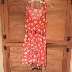 Mini floral sin dress